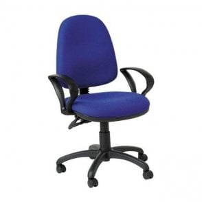 High Back Operators Chair with Fixed Arms