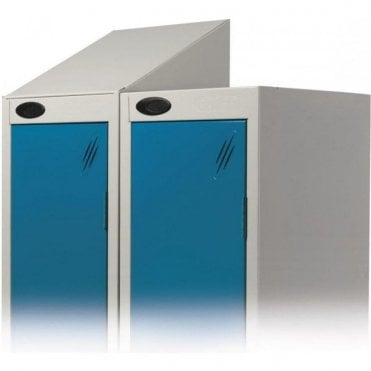 Integral Sloping Top for Lockers