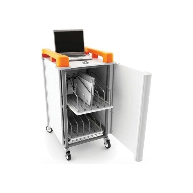 LabCabby 10 port laptop trolley - vertical storage