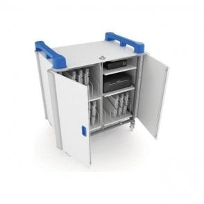 LapCabby 15 port mixed device trolley - vertical storage