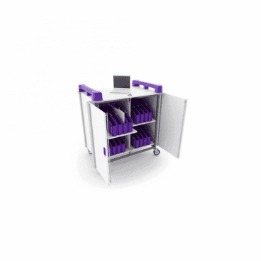 LapCabby Mini 32V - 32 port mixed device trolley - vertical storage