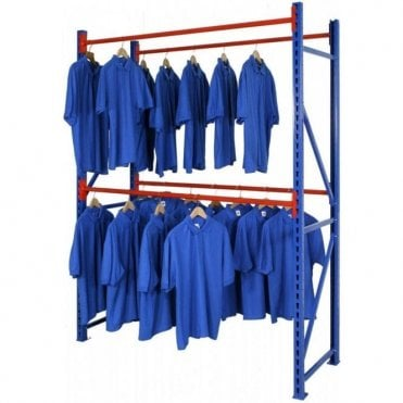 Longspan Garment Storage Racking - Double Rail