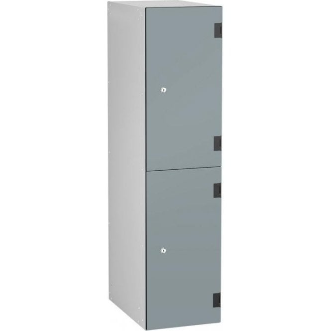Low Two Compartment Solid Grade Laminate Door Locker