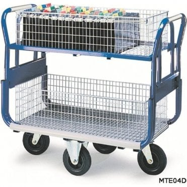 Mail Platform Trolley with Large Baskets