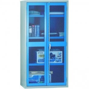 Mesh Door Cabinet - 3 shelves