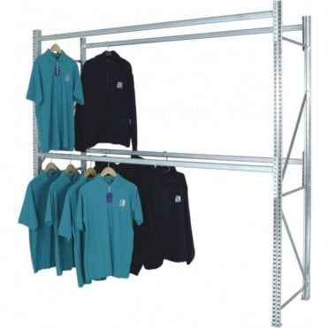 Midispan Garment Storage Racking - Double Rail