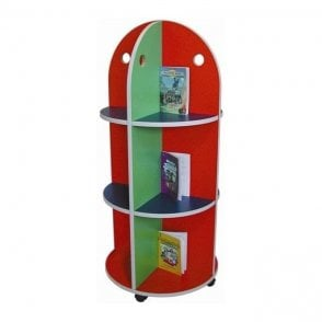 Mobile Carousel Book Trolley