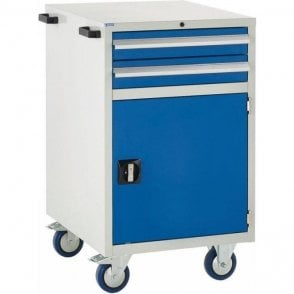 Mobile Cupboard with 2 Drawers & 1 Shelf - 600mm Wide x 980mm High