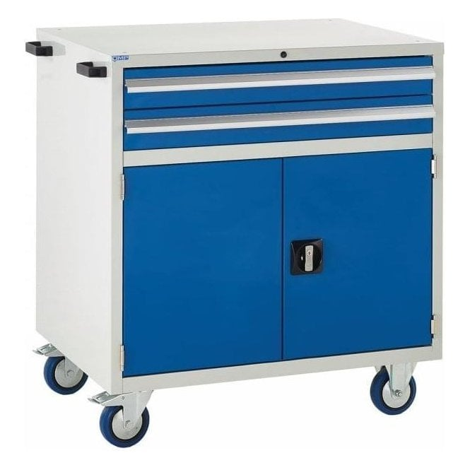 Mobile Cupboard with 2 Drawers & 1 Shelf - 900mm Wide x 980mm High