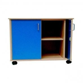 Mobile Cupboard with Retractable Doors