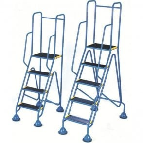 Mobile Steps - Weight Reactive Dome Inset Castors