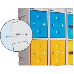 Nesting Nuts and Bolts for Ultrabox Plastic Lockers
