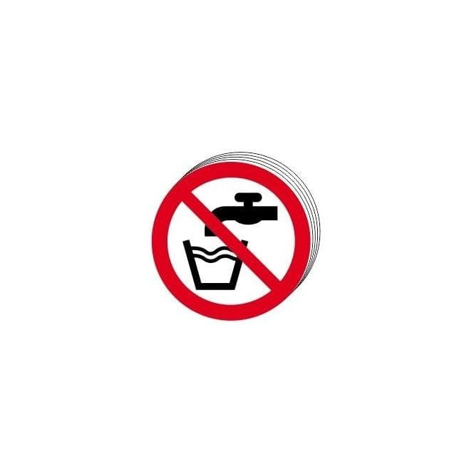 Not Drinking Water Symbol Sign