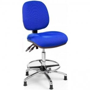 Office Draughtsman Chair Chrome