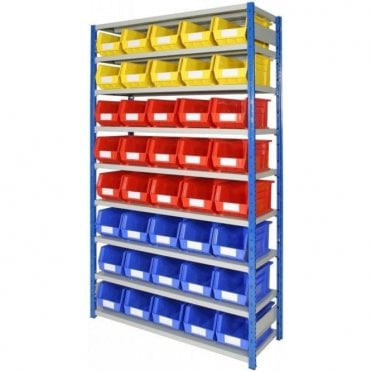 Picking Bins on Expo 4 Shelving KIT 01