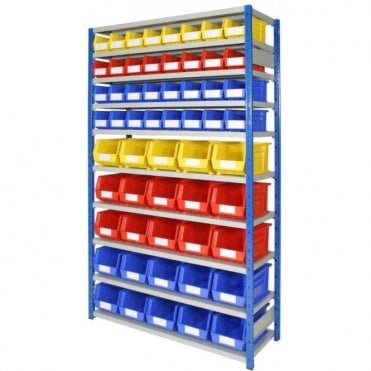 Picking Bins on Expo 4 Shelving KIT 02
