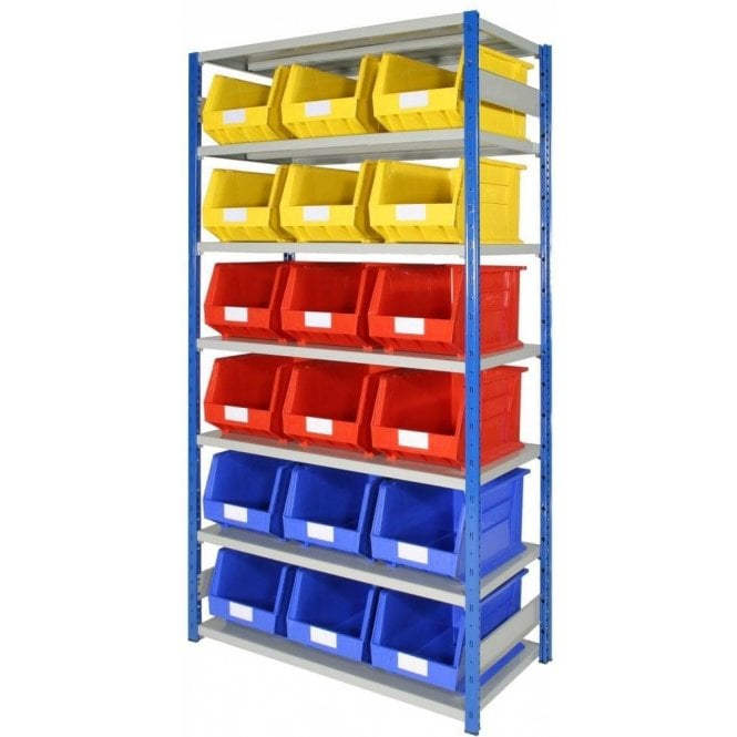 Picking Bins on Expo 4 Shelving KIT 03