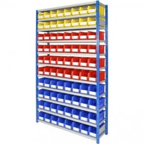 Picking Bins on Expo 4 Shelving KIT 04