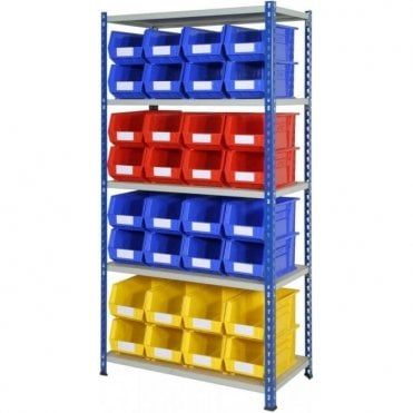 Picking Bins on J Rivet Racking KIT 02