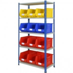 Picking Bins on J Rivet Racking KIT 03