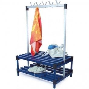 Plastic Cloakroom Double Sided Coat Bench