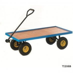 Platform Truck with Flat Deck - Plywood Base