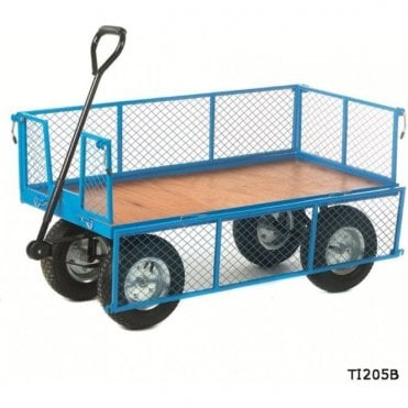 Platform Truck with Mesh Sides - Plywood Base