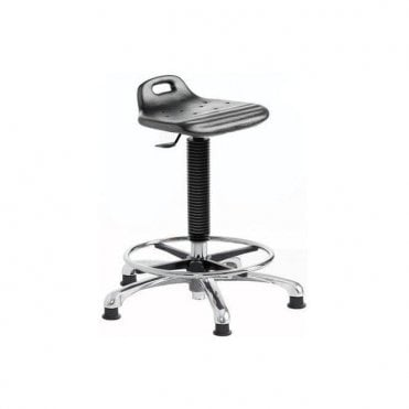 Posture Stool Chrome with Foot Rest