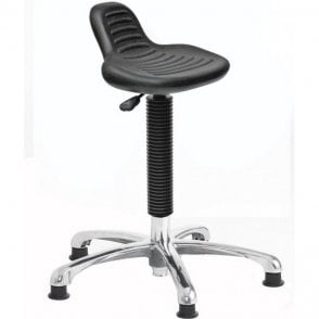 Posture Stool Chrome with Mini Back Rest