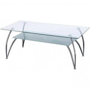 Rectangular Glass Reception Table