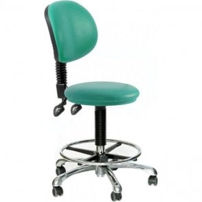 Round Dental Stool with adjustable backrest