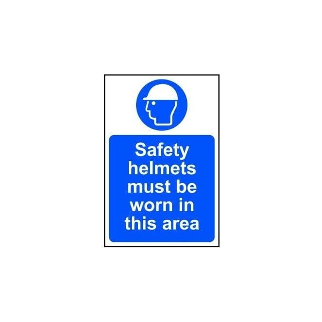 Safety Helmets Must be Worn Sign