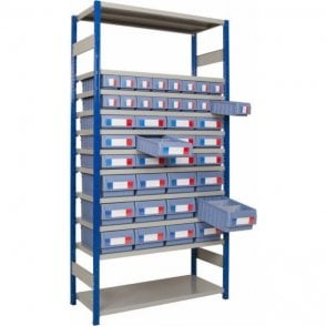 Shelf Trays on Expo 4 Shelving KIT A - Part Height Unit