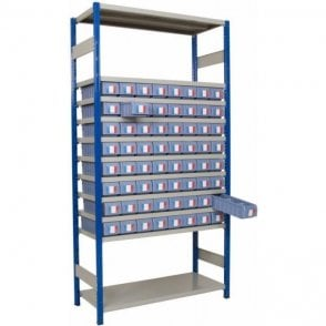 Shelf Trays on Expo 4 Shelving KIT B - Part Height Unit