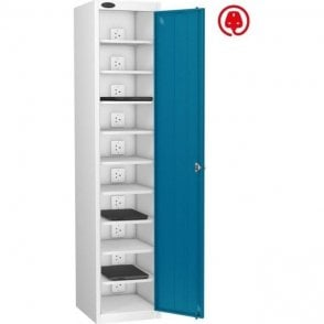 Single Door 10 Compartment Laptop Store & Charge Locker