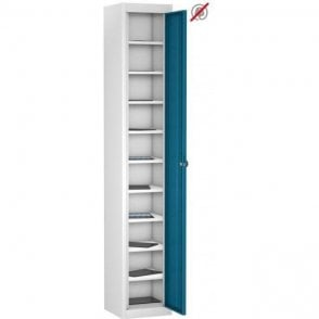 Single Door 10 Compartment Tablet Storage Only Locker