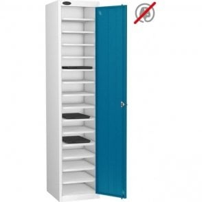 Single Door 15 Compartment Laptop Storage Only Locker
