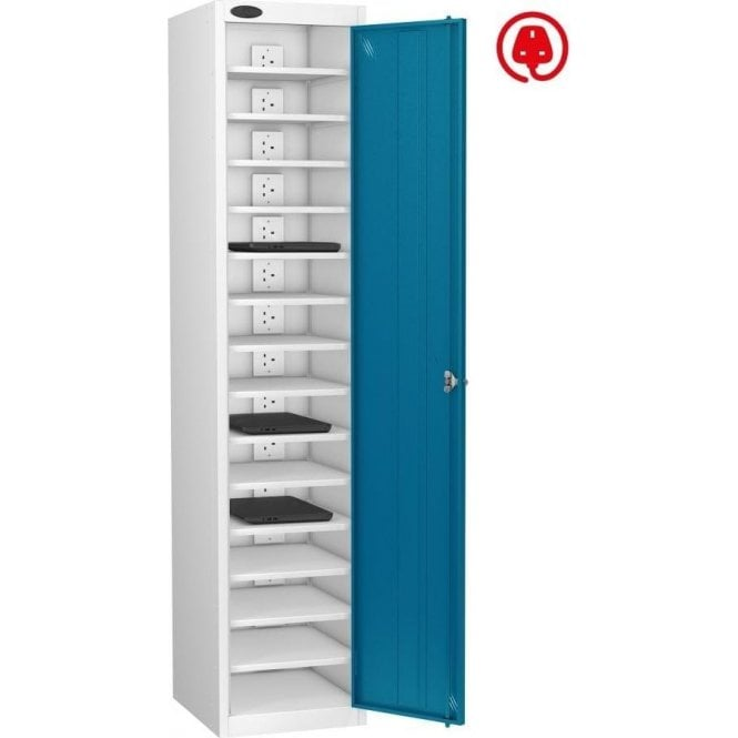 Single Door 15 Compartment Laptop Store & Charge Locker