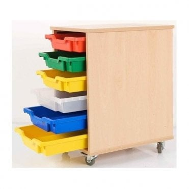 Single Tote Tray Trolley - 6 Trays