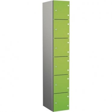 Six Compartment Aluminium Body Locker with SGL Doors