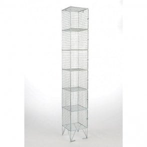 Six Compartment Wire Mesh Lockers