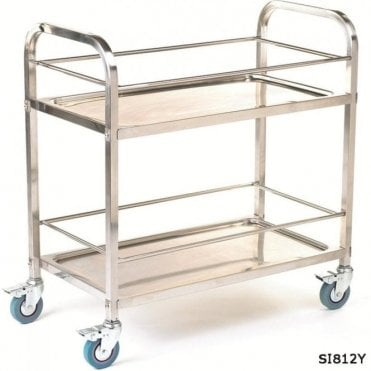 Stainless Steel Braked Shelf Trolleys