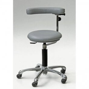 Stool with adjustable arm