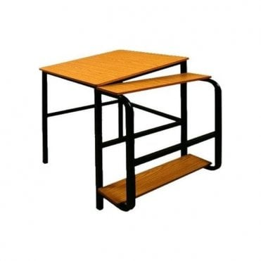 Student Drawing table with instrument shelf and folder pocket