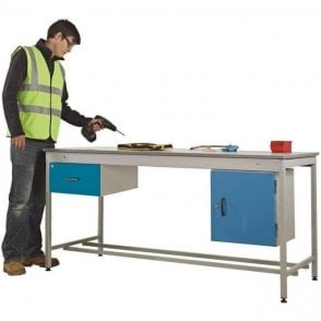 Taurus Utility Workbench with Single Drawer & Single Cupboard