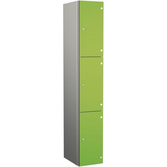 Three Compartment Aluminium Body Locker with SGL Doors