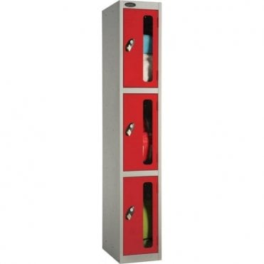 Three Compartment Vision Door Lockers