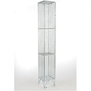 Three Compartment Wire Mesh Lockers