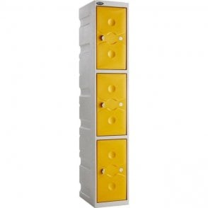 Three Door Ultrabox Plastic Lockers