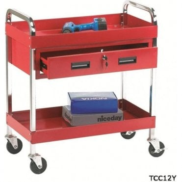 Tool Trolley - 2 Shelf/1 Drawer